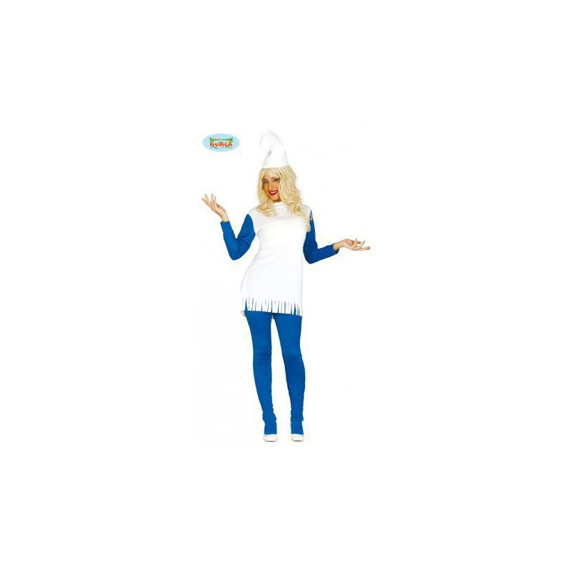 Enanita azul pitufina