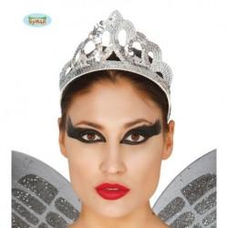 Diadema princesa lentejuelas PLATA