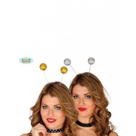 Diadema bolas surtido oro/plata