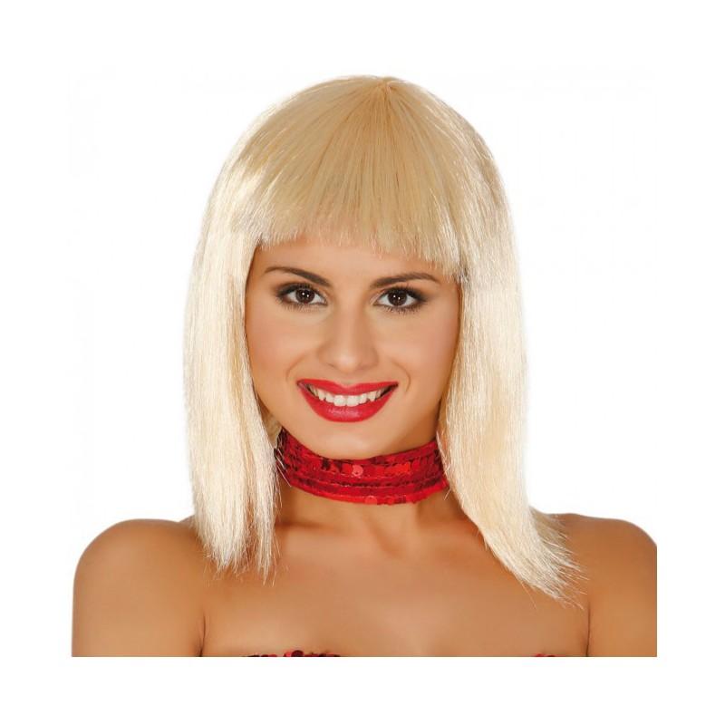 peluca rubia