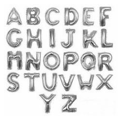 Globos de letras plata