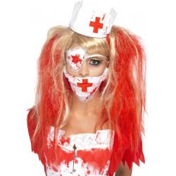 Cofia,mascara y parche enfermera
