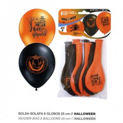 8 globos de halloween