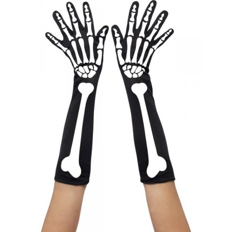 Guantes largos esqueleto