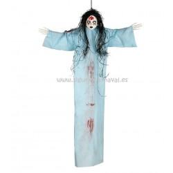 Colgante muñeca azul