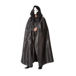 Capa veneciana negra con capucha