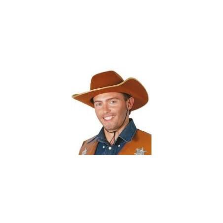 Gorro vaquero marrón