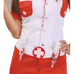 Cinturón con 2 Jeringuillas Enfermera