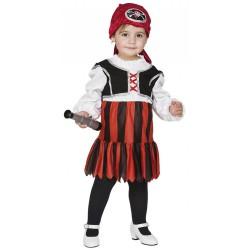 Disfraz Pirata Bebe Niña t.2-3