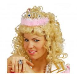 Corona Princesa con plumas