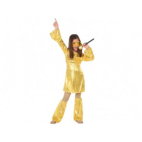 Disfraz Disco Oro Niña