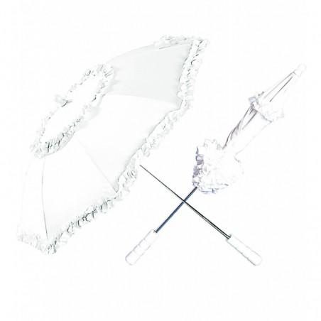 Sombrilla Blanca Con Ribete