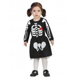 Disfraz Esqueleta Bebe