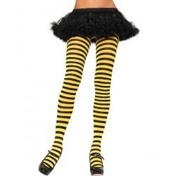 Panty Rayas Amarilla y Negra