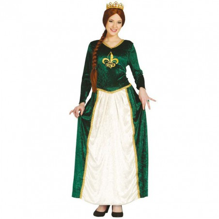 Disfraz Reina Medieval Verde