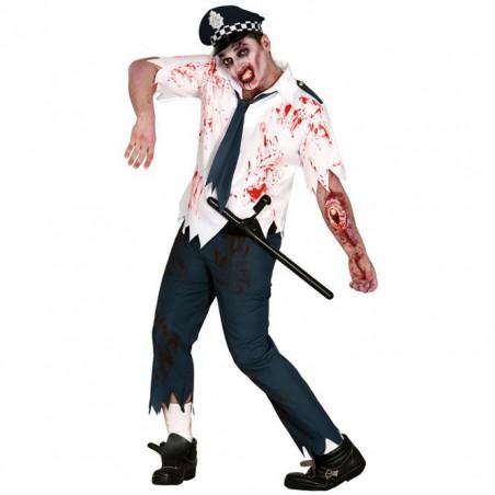 Disfraz Policia Zombie Hombre