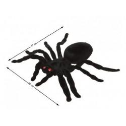Araña Plástico Terciopelada 20 cm.