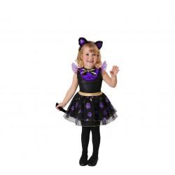Disfraz Gatita Violeta 3-4 años