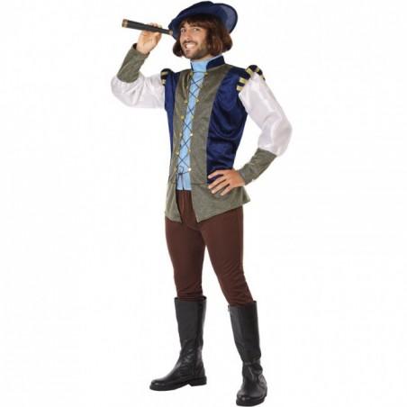 Disfraz Medieval Azul Hombre