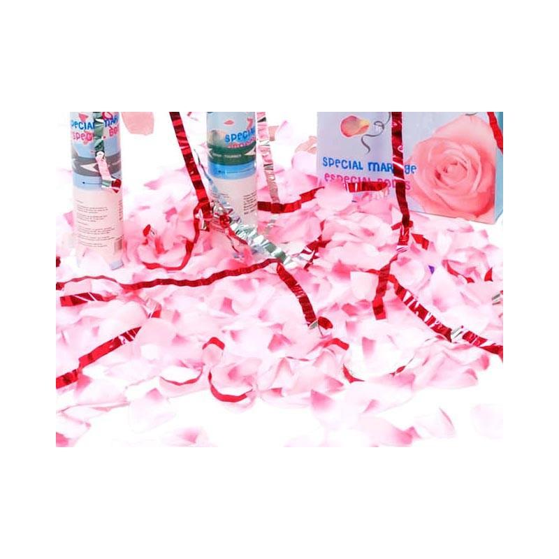 Cañon de petalos rosa