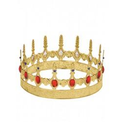 Corona rey metal rojo
