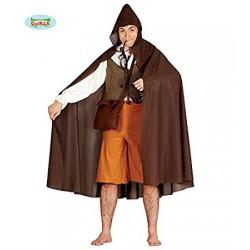 Capa marron capucha