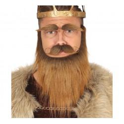 Barba ,cejas y bigote Castaño