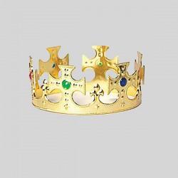 Corona oro plástico